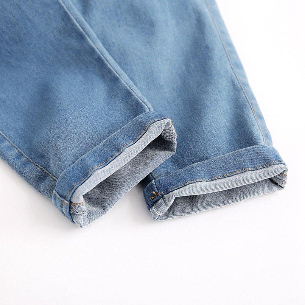 Ni/ños Ni/ñas Pantalones de Peto Vaqueros Overalls Pantal/ón Largo Ajustable 2-3 A/ños