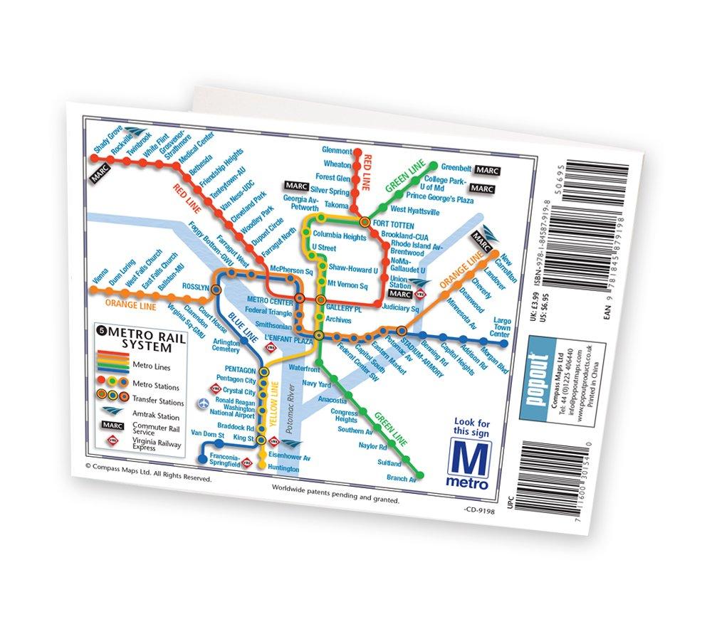 Washington DC PopOut Map PopOut Maps Popout Maps - Washington dc popout map