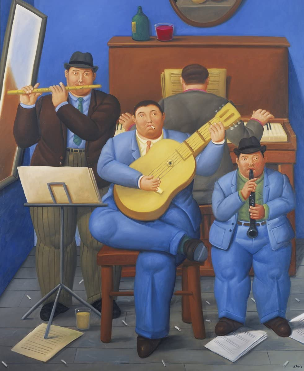 Fernando Botero - Musicians, Size 24x30 inch, Poster Art Print Wall décor