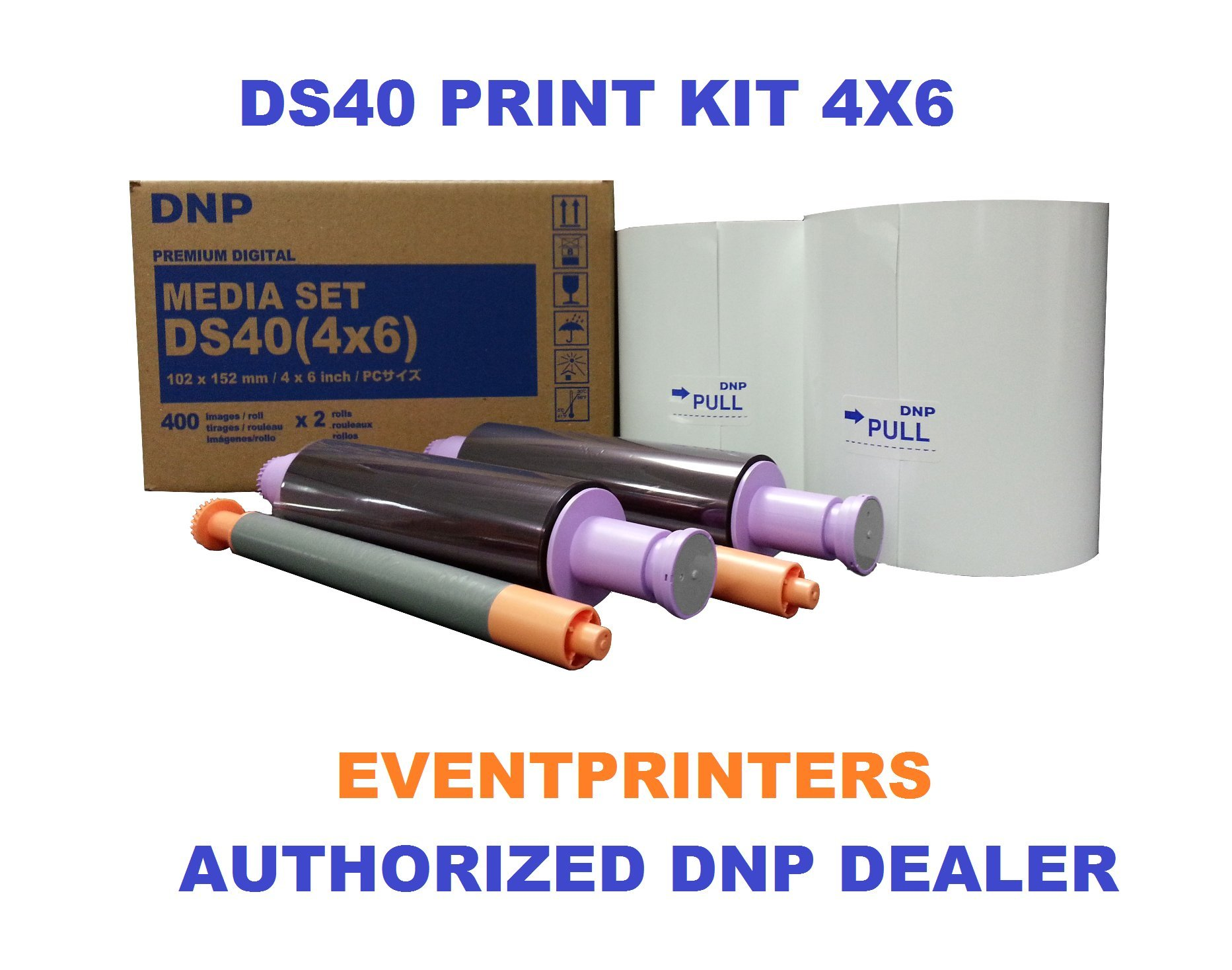 DS40 4x6'' Print Pack for use with DNP DS40 printer (800 total prints). Paper & Ribbon media kit. COMES WITH FREE SAMPLES OF OUR BEST SELLING PHOTO FOLDERS (EVENTPRINTERS BRAND).