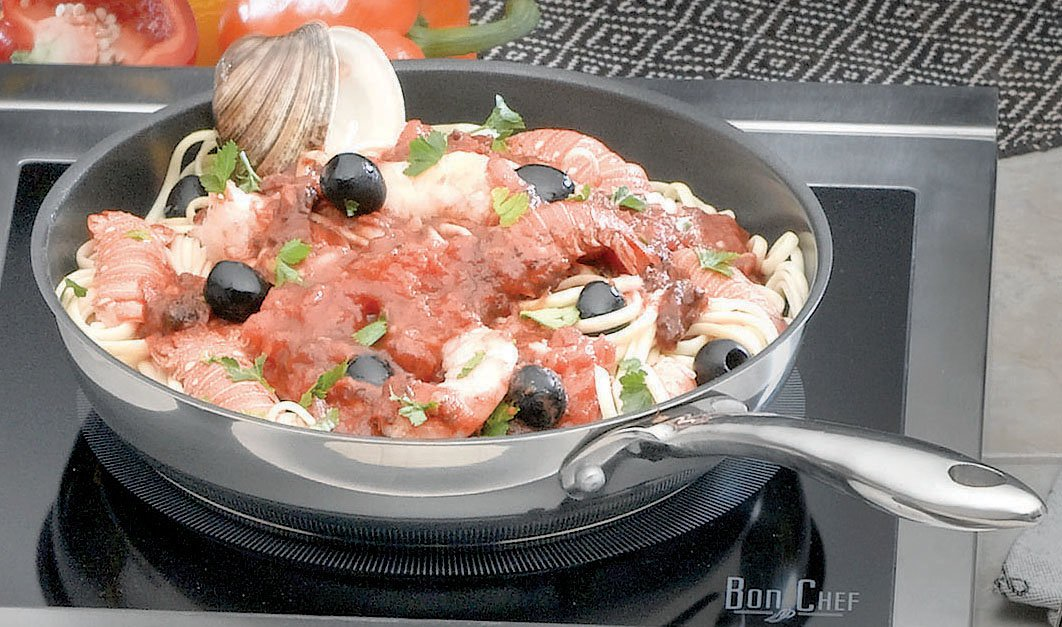 Amazon.com: bon chef antiadherente sartén para omelette, 1 ...