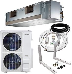 Klimaire 60,000 Btu Light Commercial High Static Ducted Recessed 18 SEER Inverter Heat Pump System 208-230V