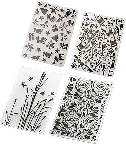 Plastic Embossing Folder DIY Scrapbooking Photo Album Card Cut Dies Template  OZ
