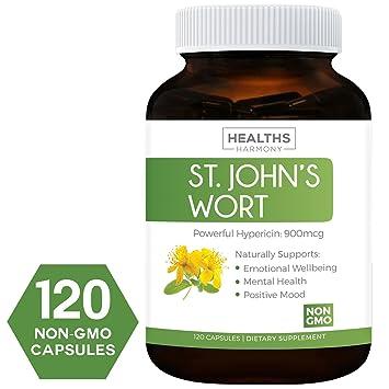 Amazon.com: Best St. John\'s Wort 500mg 120 Capsules (NON-GMO ...