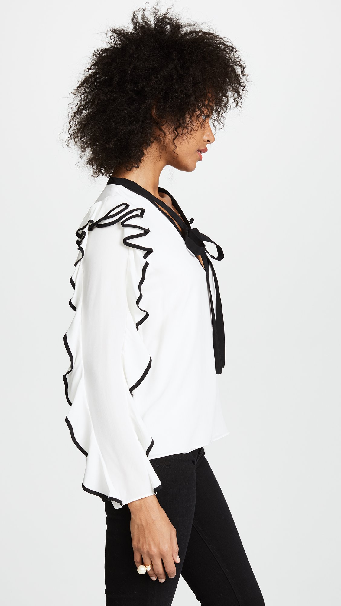 Alexis Women's Darcy Top, Off White, Medium by Alexis (Image #4)