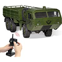 WQ Remote Control Military Vehicle with Transport Function Remote Control Stunt Car 2.4 Hz Radio Control Car Waterproof…