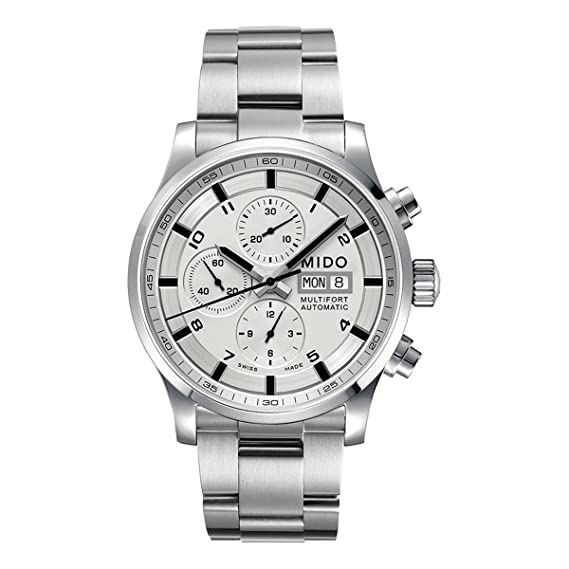 Mido Reloj Multiesfera para Hombre de Automático con Correa en Acero Inoxidable M005.614.11.037.01: Amazon.es: Relojes