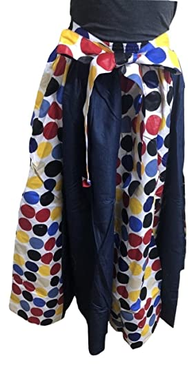 a2f4c564df Women s Traditional African Print Long Denim Skirt (1) at Amazon Women s  Clothing store