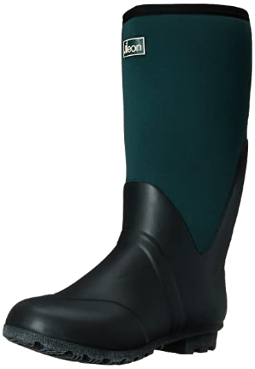 Amazon.com | Jileon Warm Neoprene Wide Calf Rain Boots - Fully ...