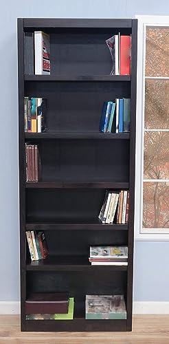 Midas Six Shelf Bookcase 84″H Espresso Finish Review
