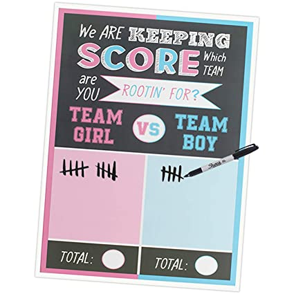 Gender Reveal Games and Decorations- Cast Your Vote Scoreboard Party Poster  18x24 Inches for Gender de0dffd31