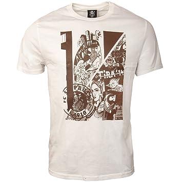 FC St. Pauli - Camiseta para Hombre de Impresión Collage SG Dynamo de Hamburgo Blanco Marrón: Amazon.es: Deportes y aire libre