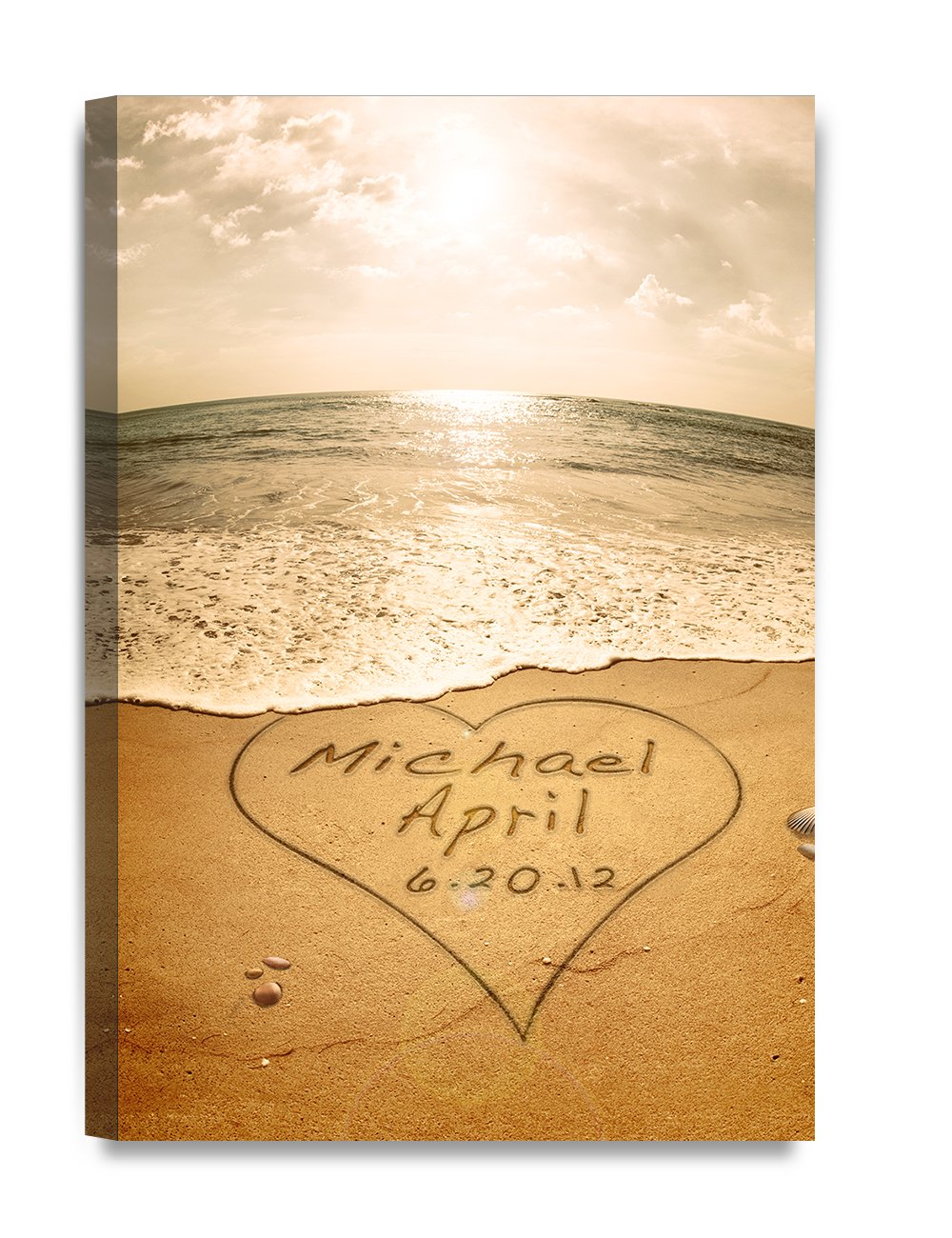 Amazon.com: DecorArts - Sand Writing Personalized Art Canvas Prints ...