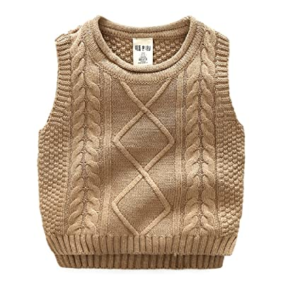 Goodluckclothes Kids Boys 100% Cotton Knitting Vests 2-10Years