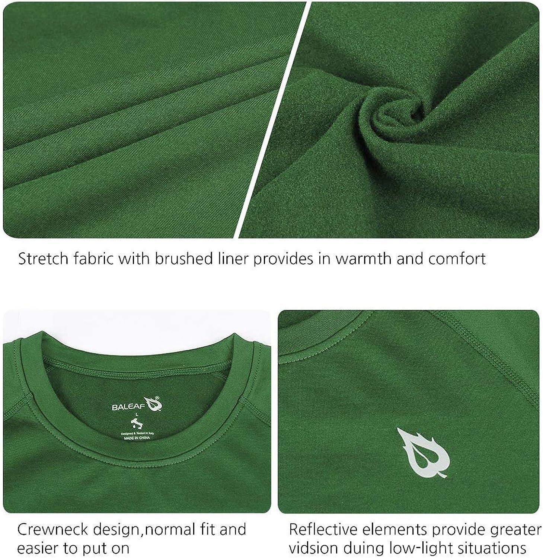 BALEAF Youth Boys//Girls Thermal Compression Sports Shirts Long Sleeve Fleece Base Layer Crew Neck
