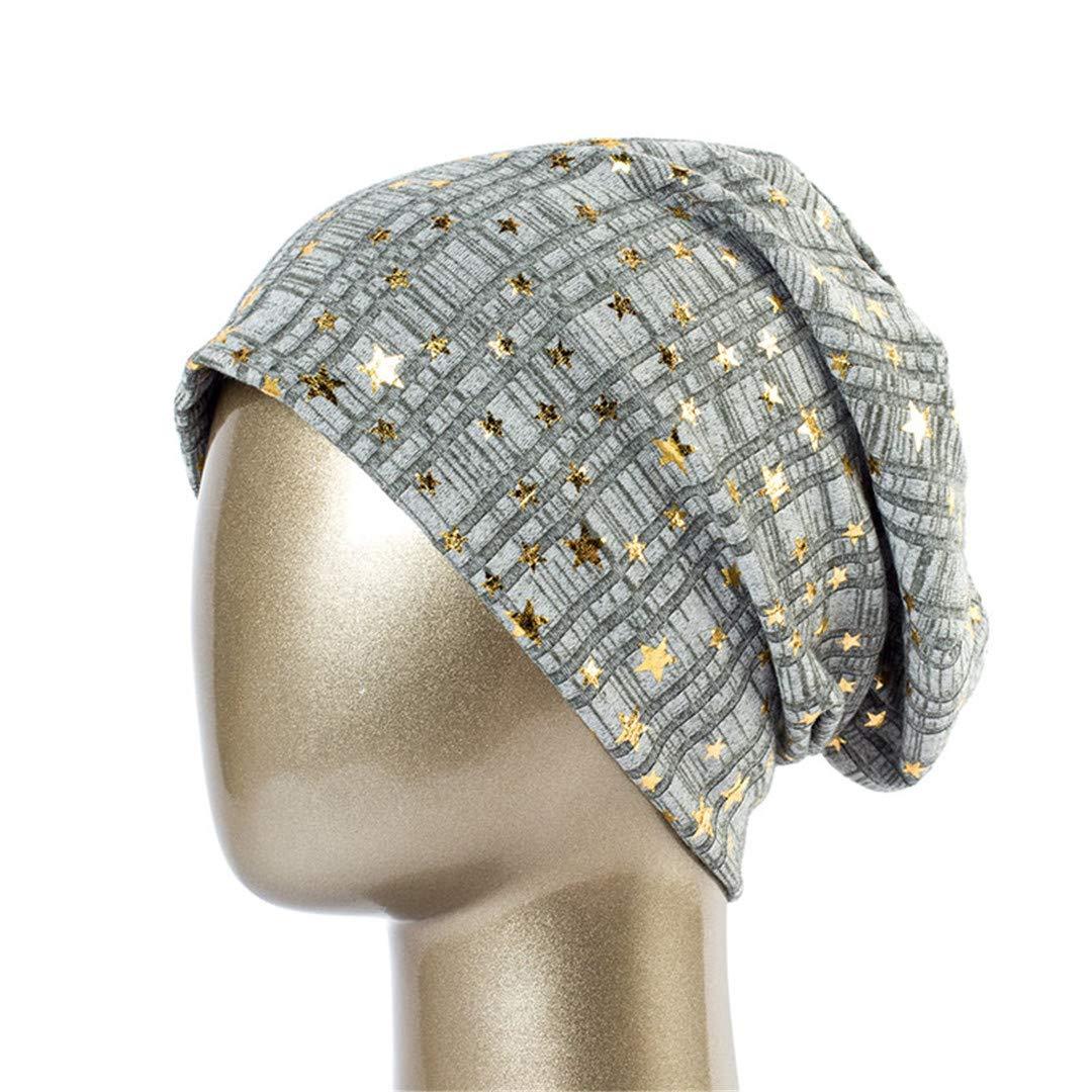 Ladies Bronze Star Hat Spring Cotton Casual Beanie Hat