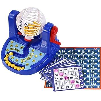 Momorain Divertido Clasico Mini Bingo Game Bingo Card Ball Juego De