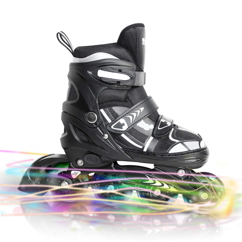 Tuko Kids Adjustable Roller Skates Boy Blades Illuminating Inline Skates (US Little Kid 12M/13M/1M)