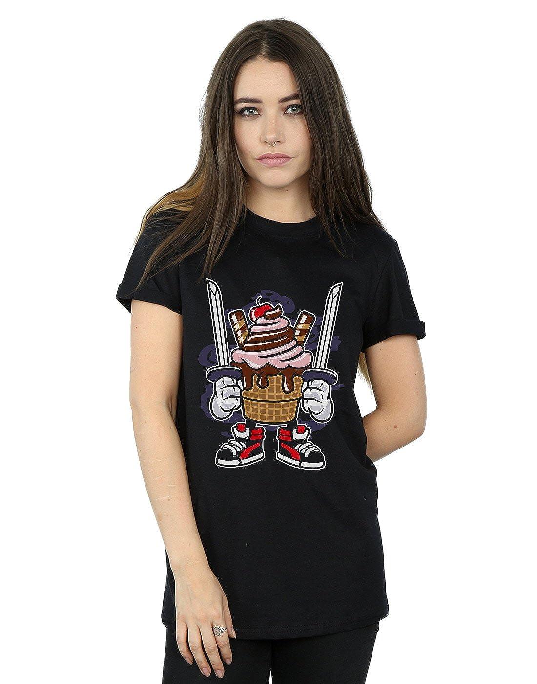 Drewbacca Mujer Ice Cream Ninja Camiseta del Novio Fit ...