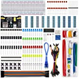 REXQualis Electronics Component Fun Kit w/Power Supply Module, Jumper Wire, 830 tie-Points Breadboard, Precision…