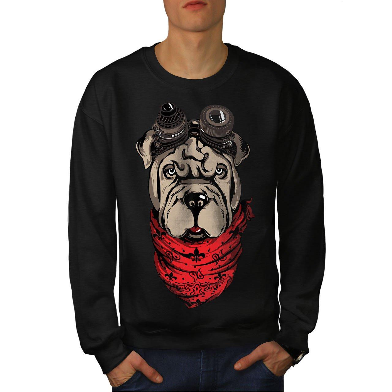 wellcoda Shar Pei Pilot Mens Sweatshirt Cute Dog Casual Jumper