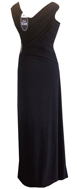 Amazon.com: Black Size 6/8 Long Maxi Bead Diamante Grecian Evening Dress: Clothing