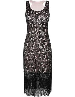 8ea10343b61 PrettyGuide Women 1920s Flapper Dress Sequin Paisley Racer Back Cocktail  Gatsby Dress