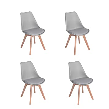 Wv Leisuremaster Lot De 4 Chaise De Salle A Manger Retro Tulip
