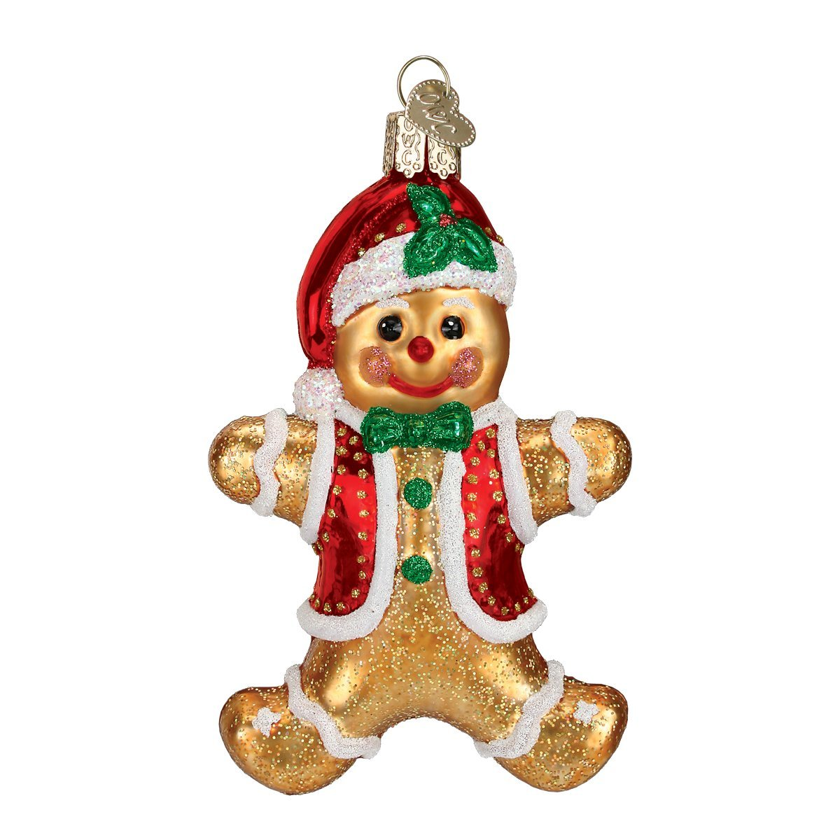 Old World Christmas Gingerbread Boy Glass Blown Ornament