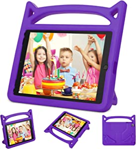 New iPad 9.7 2018/2017 Case,iPad Air 2 Kids Case-Ubearkk Kids Shockproof Light Weight Handle Friendly Stand Kids Case Cover for New Apple Education iPad 9.7 Inch (6th Gen) / 5th Generation(Purple)