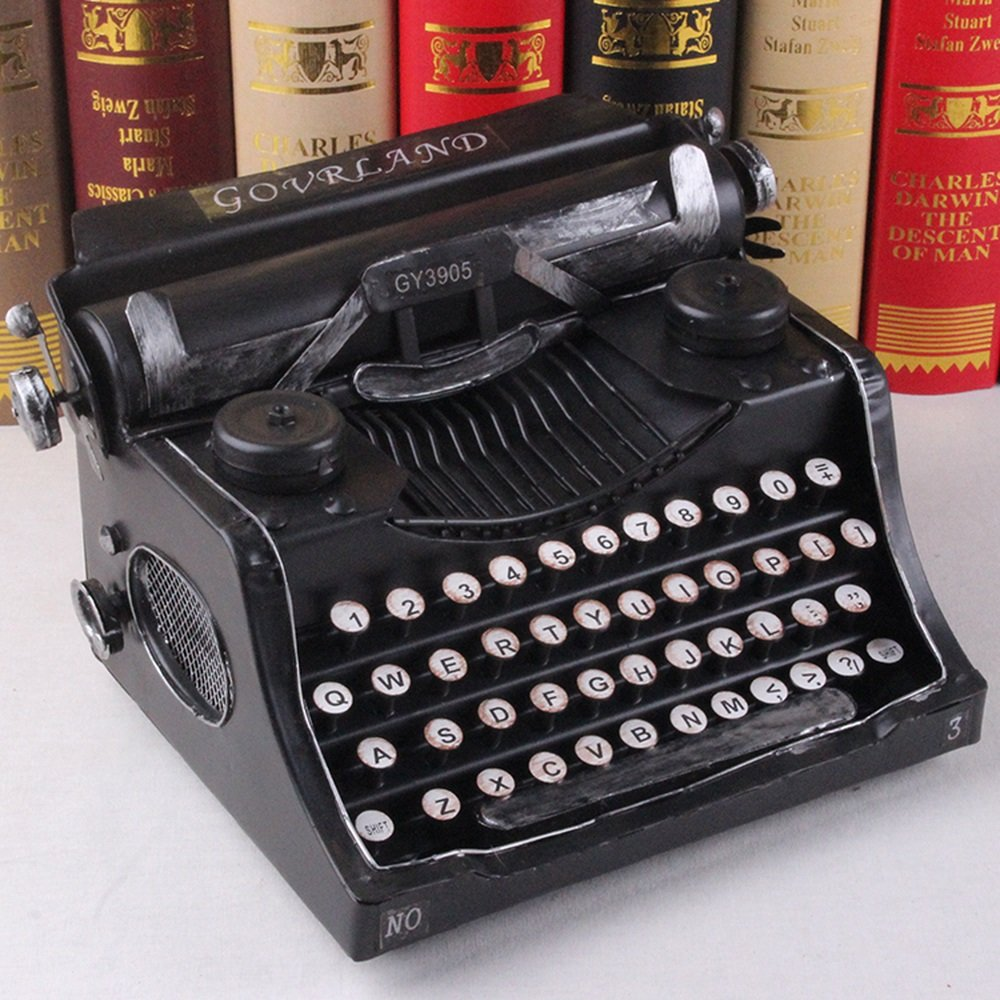 BWLZSP 1 PCS Wrought iron typewriter model shop ornament window display props retro shop ornaments AP5241723