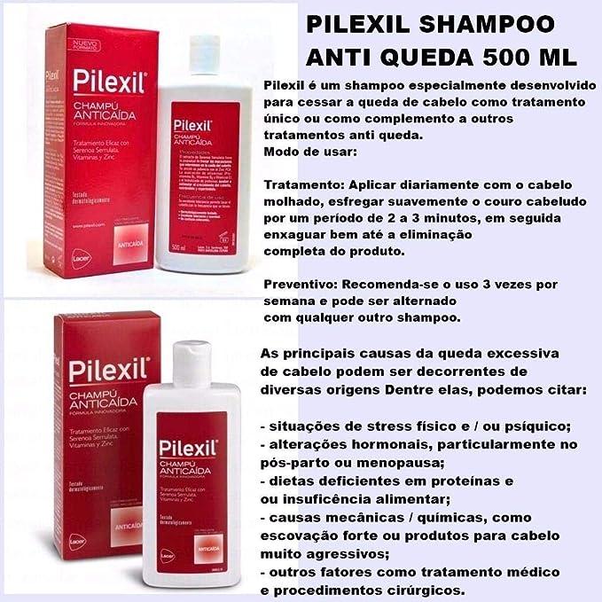 Pilexil, Producto para la caída del cabello - 500 ml.: Amazon.es ...
