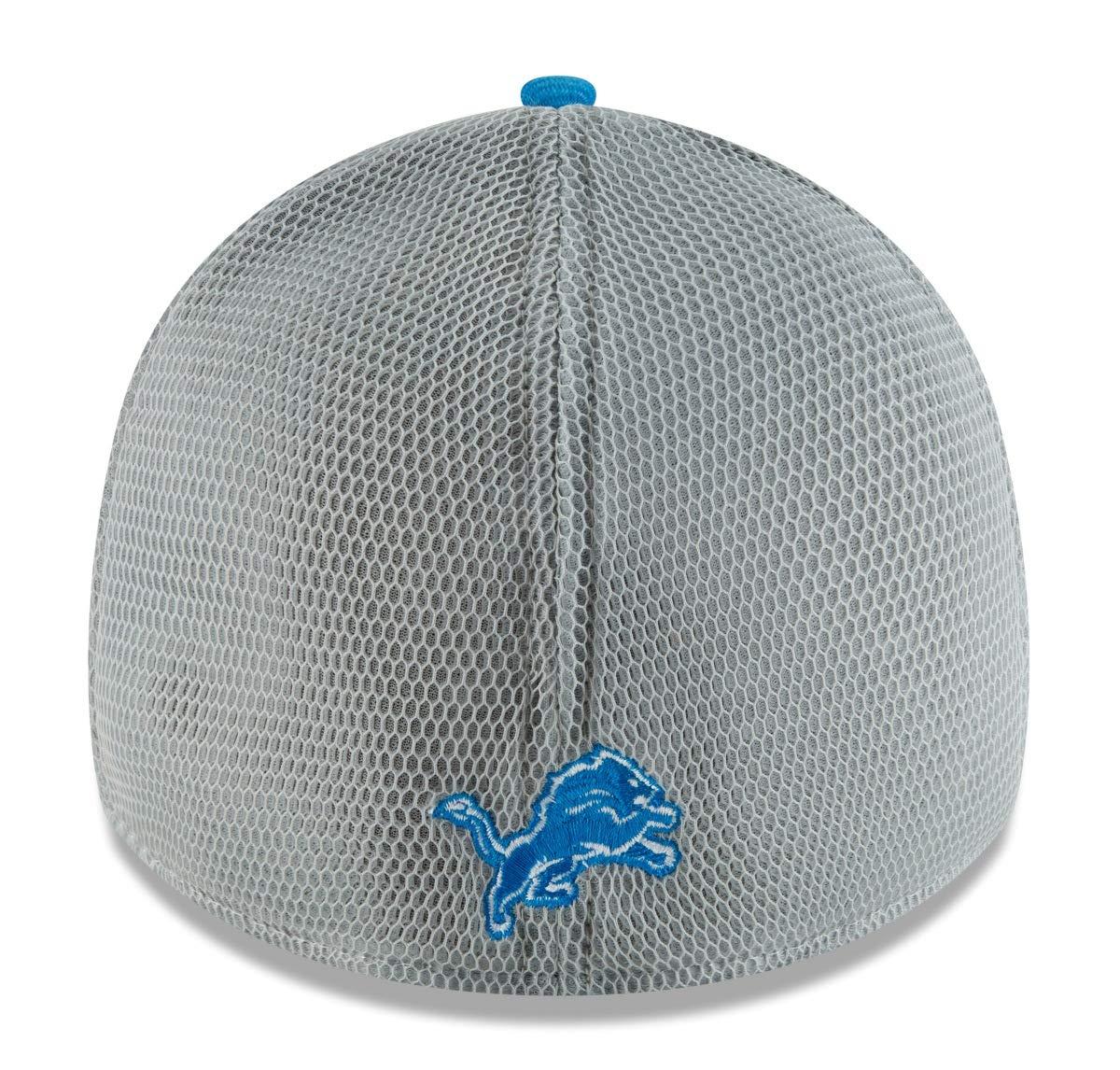 newest 651e3 018a5 Amazon.com   New Era Detroit Lions NFL 39THIRTY 2T Sided Flex Fit Meshback  Hat   Sports   Outdoors