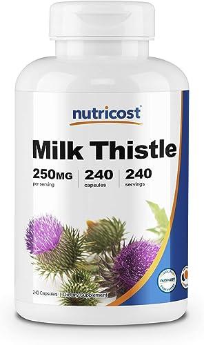 Nutricost Milk Thistle 250mg, 240 Veggie Capsules – Non-GMO and Gluten Free