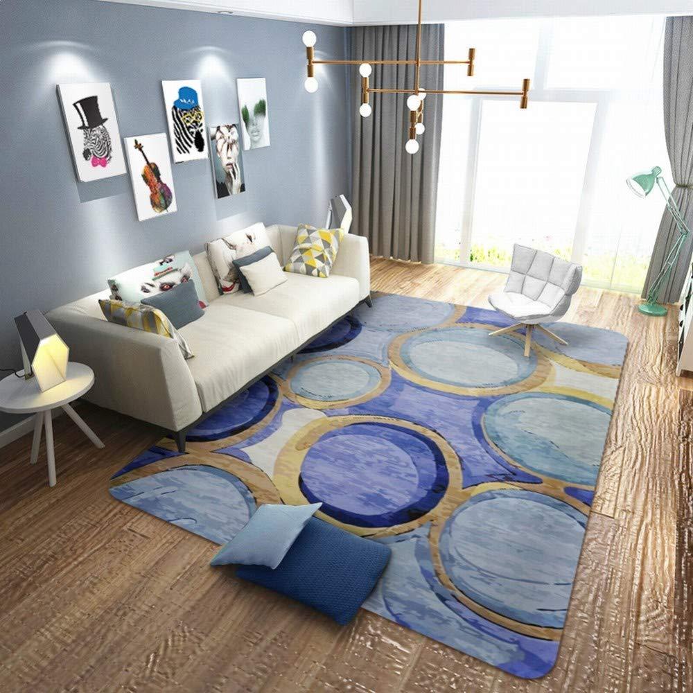 Lianliyiqing ヨーロピアンスタイルのカーペット敷きのリビングルームベッドサイドの長方形の大きなカーペットでいっぱいのティーベッドルーム じゅうたん (Color : E, サイズ : 180*230) B07T4TG1ZY E 180*230
