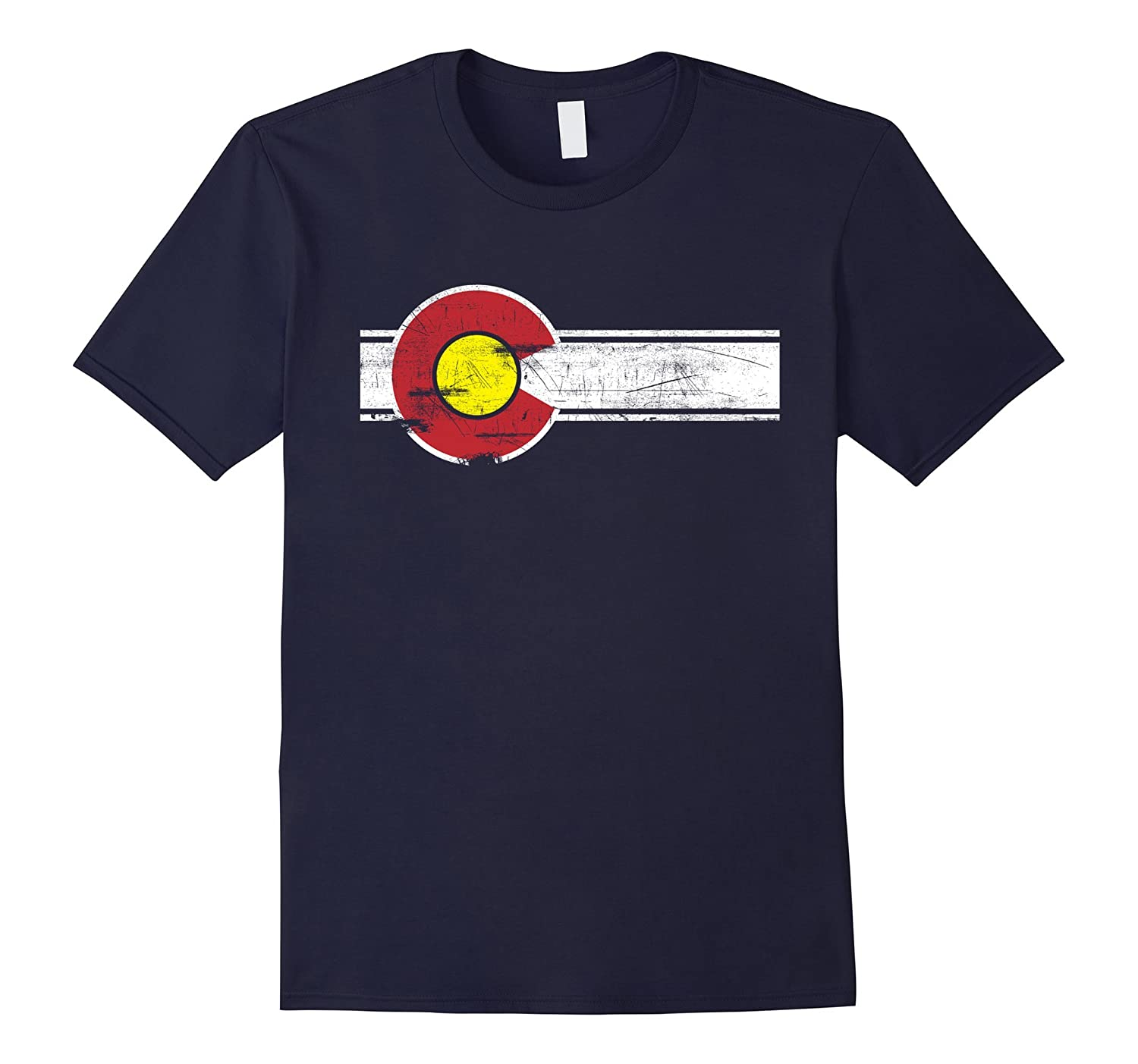 Colorado State Flag Distressed T-shirt - Vintage Look-TH