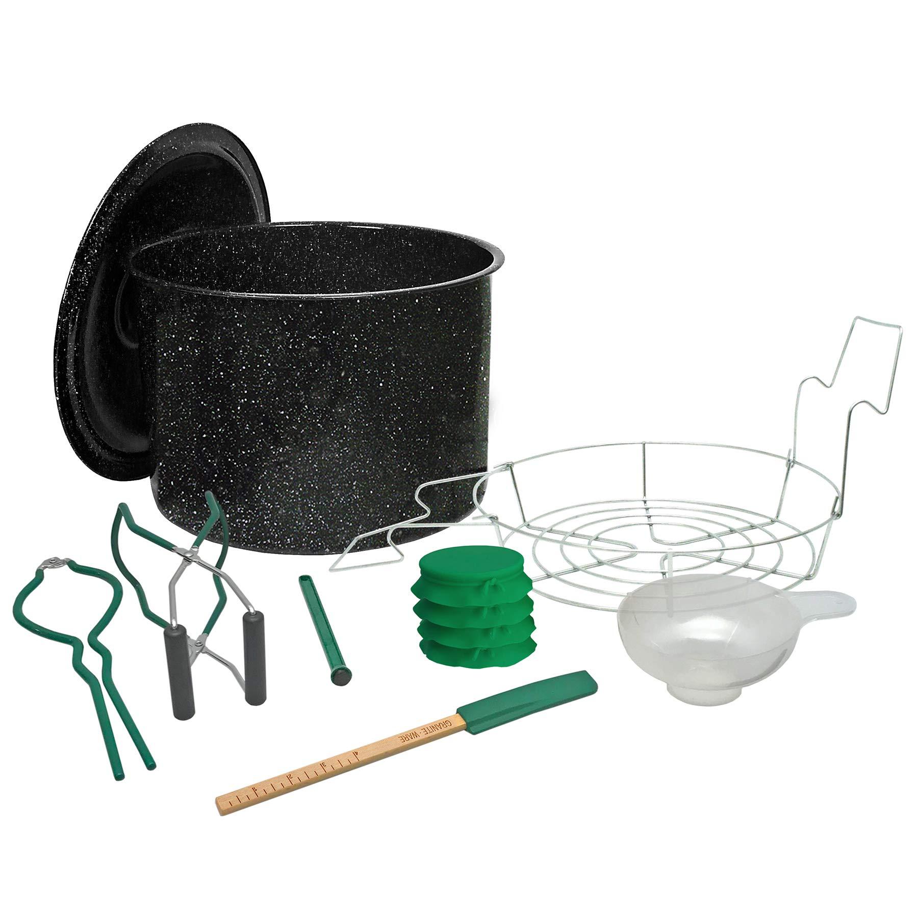 GraniteWare Farmer's Market Mini Canner Essentials Set (Black, 9 - Piece) by Granite Ware