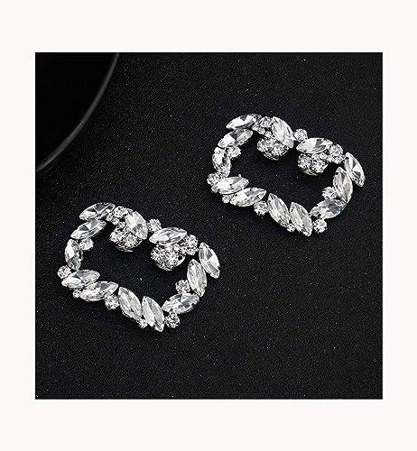 TWINKLEheadwear Scarpe Fibbia Scarpe Accessori da Donna Gioielli da Sposa  Moda Quadri Diamanti Metallo Scarpe da Sposa Accessori  Amazon.it  Gioielli 603affeb97d