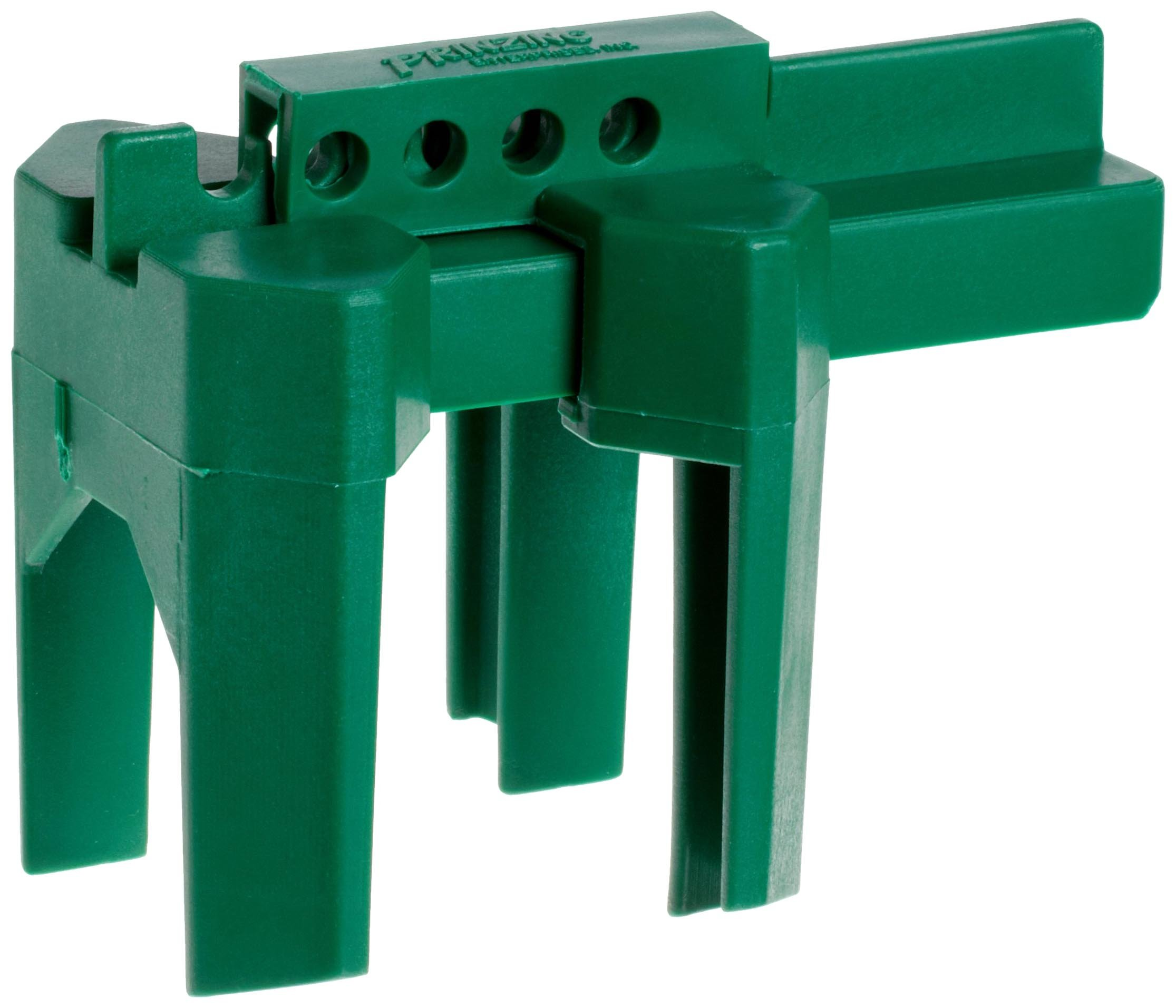 Brady Prinzing Ball Valve Lockout, Small, for 1/2''-2-1/2'' Outside Pipe Diameter, Green