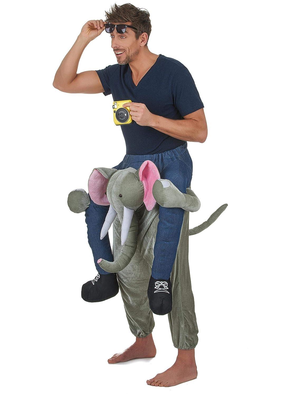 Vegaoo - Disfraz de Hombre montado en un Elefante Adulto - Única ...
