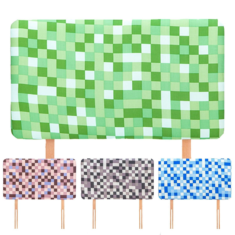 Ready Steady Bed Blue Pixels Design Children's Single Headboard 3ft Bed Size Foam Upholstered