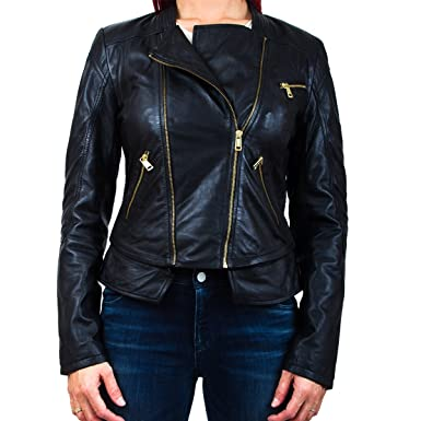 fantastic savings exquisite design exquisite style Guess - BLOUSON CUIR GUESS W63L55-L0GP0-A996-N Couleur ...