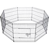 "24"" 8 Panel Pet Playpen Portable Exercise Cage Fence Dog Puppy Rabbit"