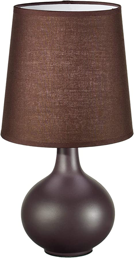 Comodino Lampade Camera Da Letto Design.Lampada Da Comodino Abatjour Design Moderna Sfera Ceramica Marrone