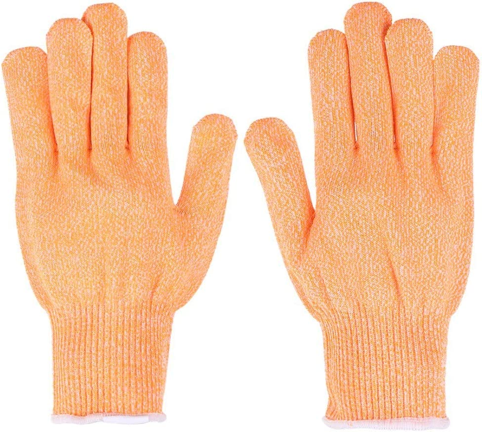 Cutting Resistant Anti-slip Static Proof Wear Resistant Gloves/_color:orange/_Size:m