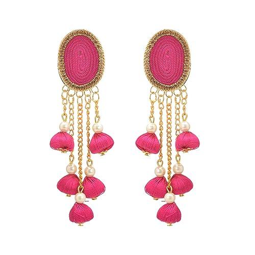 a5f3af305 Amazon.com: Zephyrr Ethnic Golden Alloy Drop/Dangle Earrings Dark ...