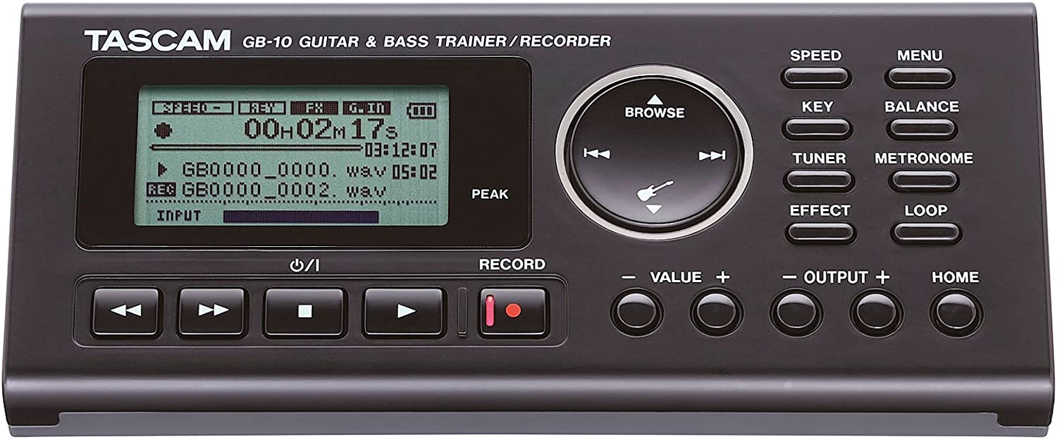 Tascam GB Grabador de 10 Trainer para guitarra y bajo Keepdrum ...