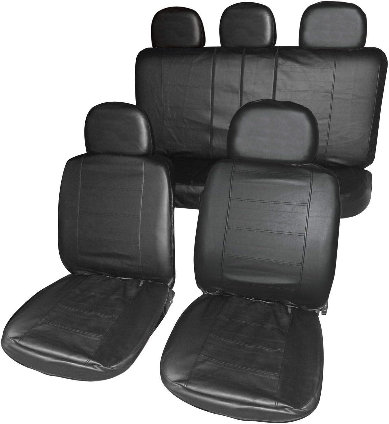 UKB4C Leatherette Full Set Front /& Rear Car Seat Covers for Mitsubishi L200 Pickup