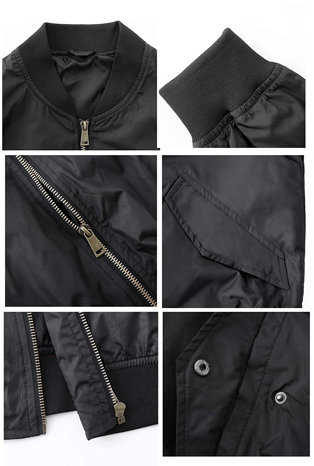 MADHERO Mens Lightweight Bomber Jacket Slim Fit Softshell Windbreaker NMA-1