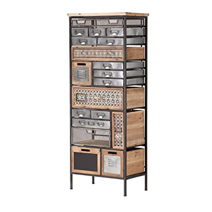 Whole House Worlds The Industrial Chic Dresser, 19 Drawers And Utility  Bins, Reclaimed Vintage